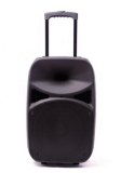 18 inch super bass portable speaker powered stage trolley professional amplifier speaker with mic