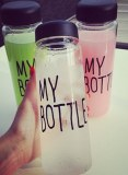 Material de tritan 500ml moda deportiva mis botella limón jugo espacio taza agua potable botellas