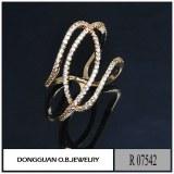 R7542 Latest Gold Finger Ring Designs Fashion Imitation Diamond Gold Ring