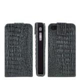 TOP VENTE! CROCODILE Etui en cuir simili pour iPhone 4 et 4S