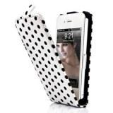 Grossiste POINTS Etui cuir flip pour iPhone 4 et 4S