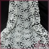 Jacquard big flower lace fabric for dress/blouse