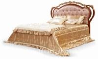 Proveedor de lujo real FB-128 de la cama de madera sólida de la cama de la cama de las...