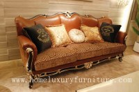 Sistema clásico italiano del sofá del lether de la compañía del sofá del sofá del sofá clásico cl...