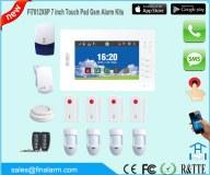 7 pulgadas HD touchpad app alarma GSM sistema de alarma con control