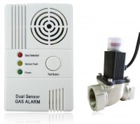 Toxic Combustible Gas Detector Alarm With Shut Off Valve