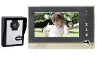 7 pulgadas LCD color de la puerta timbre video del intercomunicador del teléfono