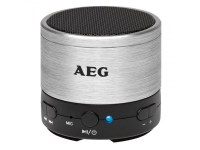 Haut-parleur Bluetooth AEG Sound System BSS 4826 Argenté- Bleu- Rouge