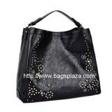 Grande de la manera Negro Hobo Bag, la flor del metal Bolso, HD23-076