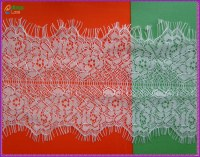 11.0cm Wide Embroidery Eyelash Lace Fabric for Garment HJM009