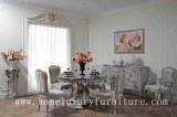 Las sillas redondas de la mesa de comedor 4 de la mesa de comedor de madera de la mesa...