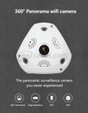 Wifi 2p2 wireless 1.44mm vr fisheye cam 3d panoramic camera