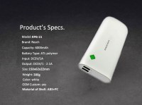 13000mAh Dual USB Polymer Mobile Power Bank for Samsung Galaxy Note 4