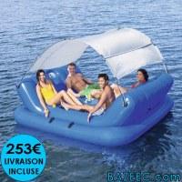 Ile gonflable flottante 272 x 196 cm LIVRAISON GRATUITE
