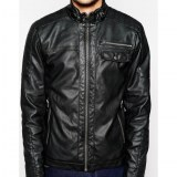 Zip Thru Sheep Leather Jacket USI-8875