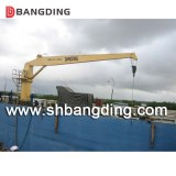 Hydraulic straight stiff boom deck marine crane/Hydraulic fixed boom marine deck crane