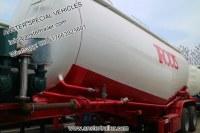 30 40 50 60 m3 Cbm polvo a granel seco Cement Tanker Remolque con material Q235