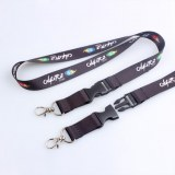 Sublimation lanyard with metal hook