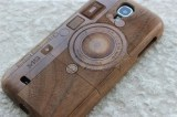 CAMERA Motif Bois naturel Coque en bois véritable pour Samsung Galaxy S4 i9500