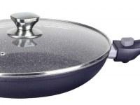 Imperial Collection IM-FFL28-DM; Poêle de revêtement marbré à manche détachable 28cm
