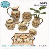 Hand Painted Curly Grass Italian Top Choice Royal Porcelain Dinnerware