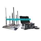 300W 4-8bands High Power Drone Jammer Jammer up to 1500m