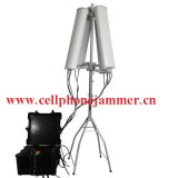 600W 4-8bands High Power Drone Jammer Jammer up to 2500m