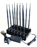 12-band Jammer Cell Phone GSM CDMA 3G 4G WIFI GPS VHF,UHF and Lojack