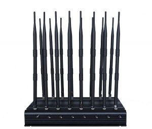 Adjustable 16 Antennas Powerful GSM 3G 4GLTE 4GWimax Phone Blocker & WiFi UHF VHF GPS...