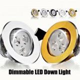3W Dimmable Led downlight de plafond AC85-265V encastré led lampe murale mettant en lum...
