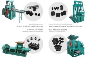 Extrusor de briquetas hidráulicas Línea de procesamiento de carbón de leña Máquina para...
