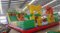 Used commerical playground equipment inflatable combo castle slidefor kids