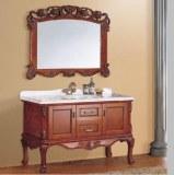 Antiguo de madera maciza cuarto de baño vanidad