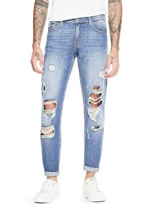 4 JEANS TAPERED DESTROY GUESS HOMME