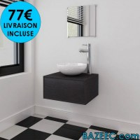 Meubles de salle de bain trois pièces LIVRAISON GRATUITE