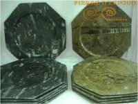Platos de mármol fosilizado