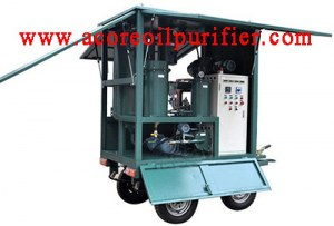 Mobile Trailer Vacuum Transformer Oil Filtration Machine