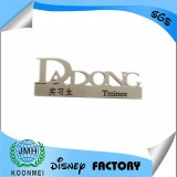 Engrave name badge, name lapel pin