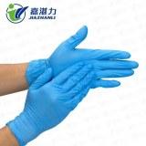 Guantes de examen de nitrilo desechables azules