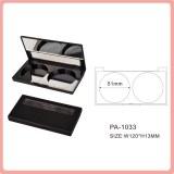 Doble colores mate de polvo compacto con espejo cosmetico caja de embalaje