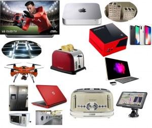 MUCHA ALTA TECNOLOGÍA Y VARIOS PRODUCTOS (televisores 4K oled, teléfonos inteligentes...)