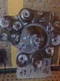Placa amonita mármol fosilizado