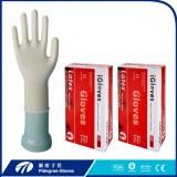 Médicos guantes de látex desechables examen de grado