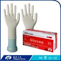 Guantes de látex examen guantes de examen desechables ajuste natural de calidad médica