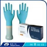 Guantes de examen de nitrilo desechables negro apoyados guantes de la mano