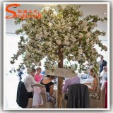 Newest product plastic leaves pink wedding decoration led artificial indoor cherry blossom tree