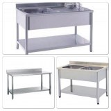 Plonge inox, évier, table inox