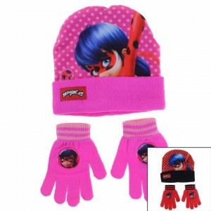 3x LadyBug Gorras y guantes