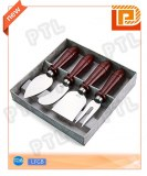 Stainless steel cheese set with deluxe wooden handle(4 pieces)