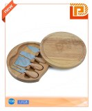 Swiveling wooden cheese set(5 pieces)